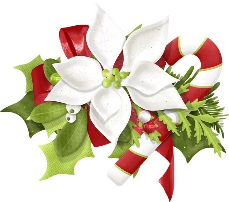 Christmas flower clip art cliparts