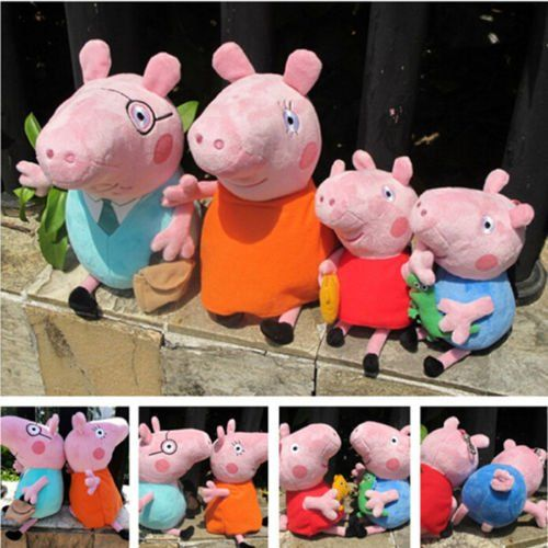 EBAY: **Super Steal Alert!** 4 Pack Peppa Pig Family Plush Set for ONLY $14.58 + Ships FREE! (Only 6 Left!) Get the Whole Family: http://ebay.to/2Cu1tKl #ad