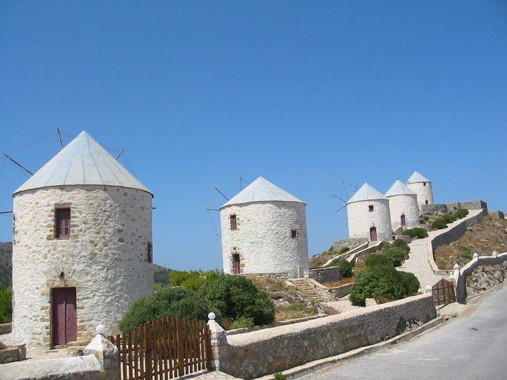 Windmills at Leros island Greece #Greece #island