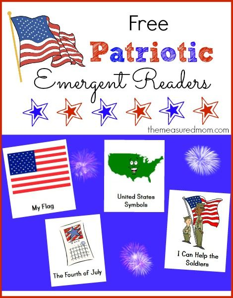 FREE Patriotic Emergent Readers -- great for Veterans Day! This post also contains lots of great tips and resources for teaching kids to read.