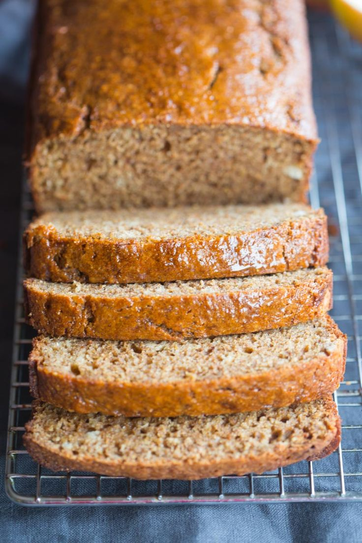 The BEST Cinnamon Applesauce Bread! Bakery style and made with whole grains. Is anyone else getting super excited for Fall? It's my favorite season. The colors, weather, smells, clothes and food! With school starting my mind always jumps to thinking it's already Fall.  I think I'm even going to make my favorite Pumpkin Chocolate Chip... Read More »