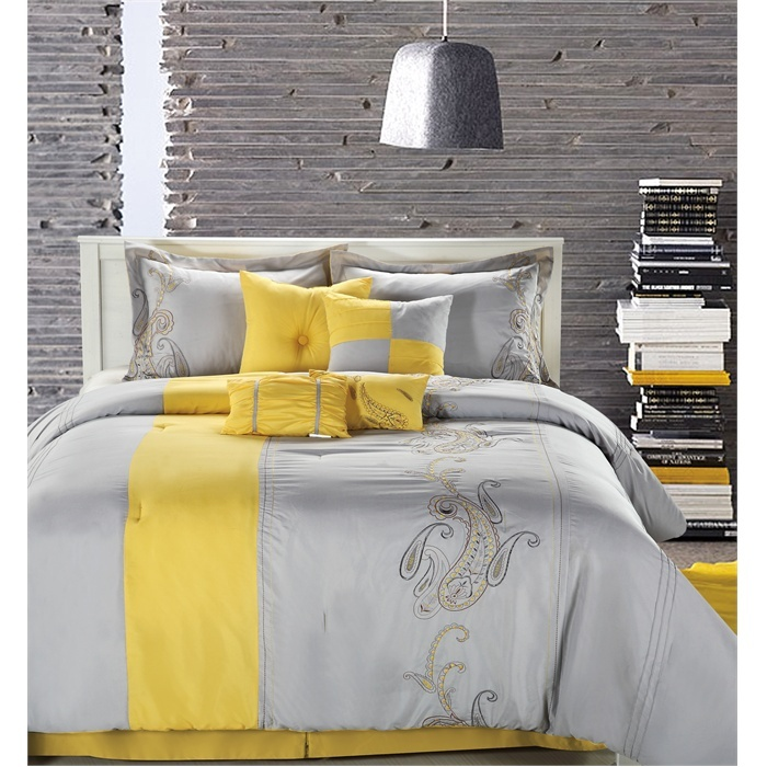 126 best yellow and gray bedding images on pinterest | home