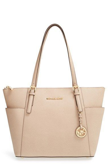 9f108a47295c8d MICHAEL Michael Kors 'Jet Set' Leather Tote available at #Nordstrom ...