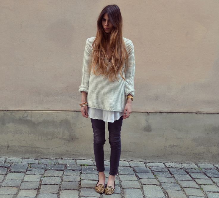 MAJA WYH - Ankle jeans and oversized sweater
