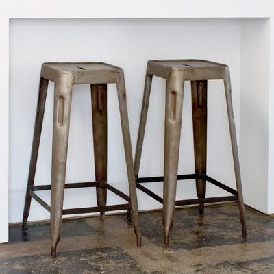 CG Sparks Steel Stacking Barstool In Natural Patina (Set Of     Bar Stools    Kitchen And Dining   Furniture