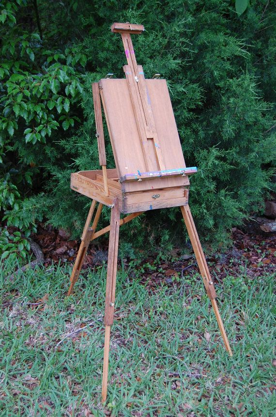 Original 1960's French Vintage Easel. Painters by PickersWarehouse