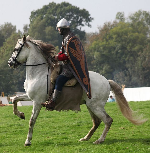 norman knight and his spanish riding horse By pg tips2
