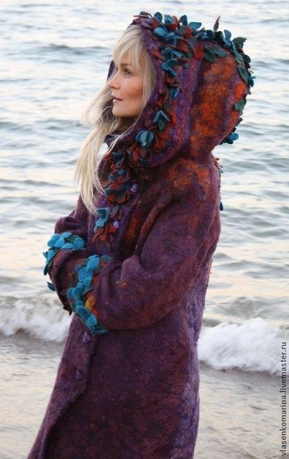 "Пальто валяное ""Мизэки"". Handmade. #felting"