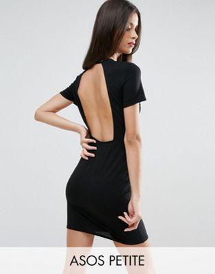 Облегающее платье-футболка мини с открытой спиной ASOS PETITE