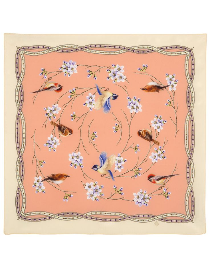 Pink Silk scarf ''Ringing Morning'' | RusClothing.com #pink #silk #scarf