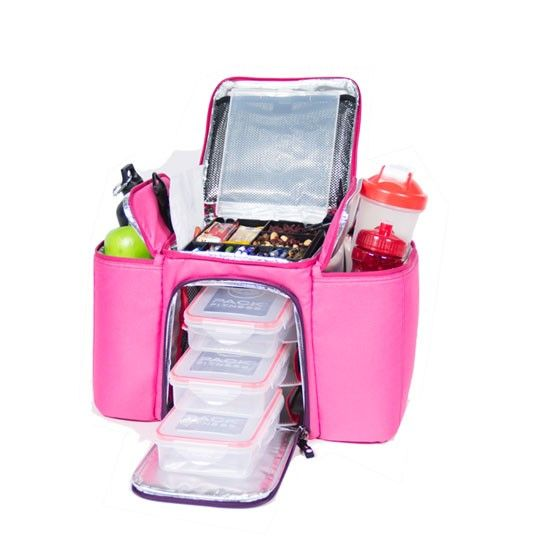 Need this for packing all my health stuff for the day - Six Pack Fitness Innovator 300 Hot Pink now on preorder
