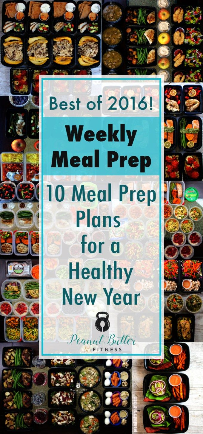 Healthy New Year: 2016 Meal Prep Round Up.  Start off your new year with some healthy meal prep ideas that will save you time and money.  Each prep also includes nutrition info and meal plans.  No boring recipes here!