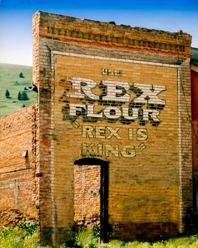 "Photograph of Rex Flour ""Rex is King"", Pony, Montana"