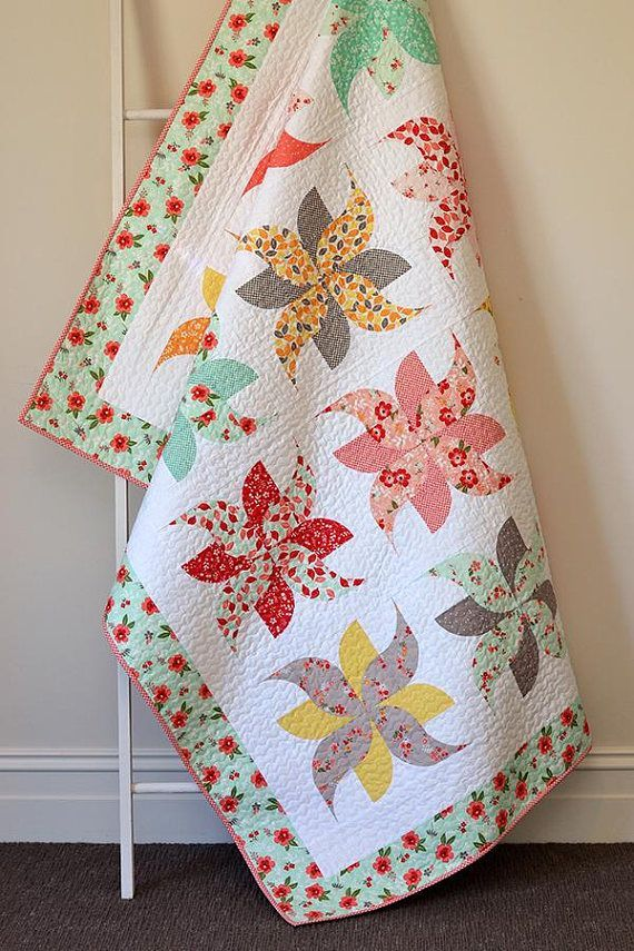 Darling Tumbleweeds Quilt Kit with Sweet Prairie fabric from Down Grapevine Lane. Adorable! Riley Blake Designs Fabric