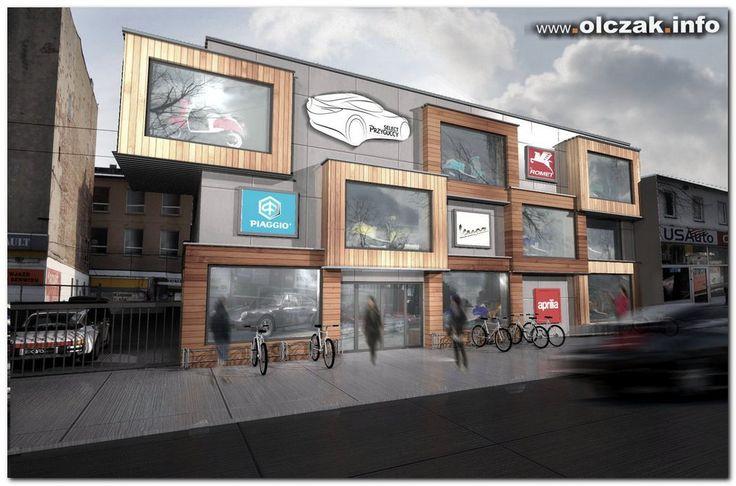 Architekt Maciej Olczak - projekt salonu pojazdow