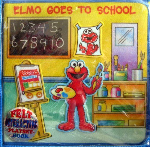 soft play felt playset book elmo goes to school by