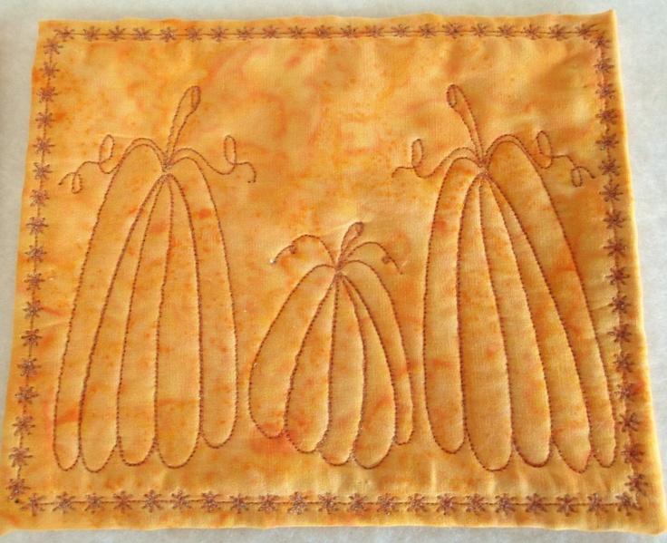 Pumpkin Mug Rugs Snack Mats or Coasters