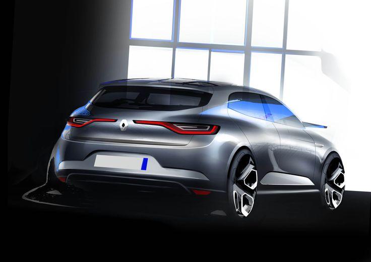Renault Megane 2015 sketch 2