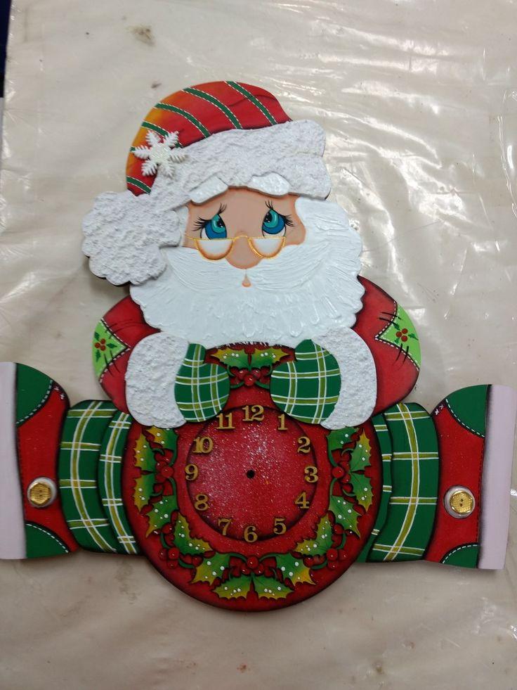 Papá Noel en una técnica mixta