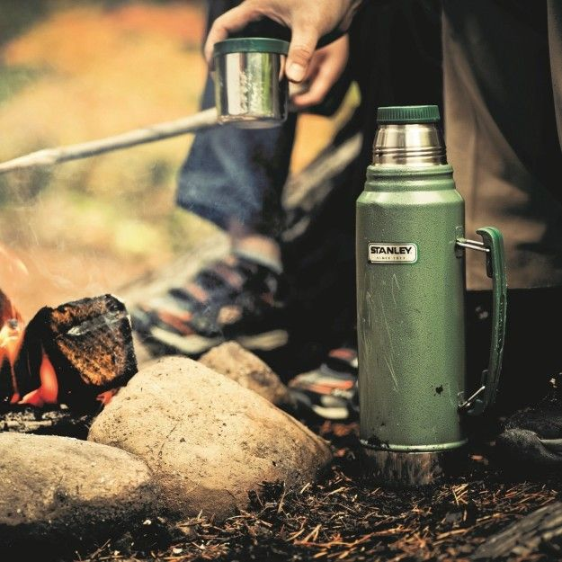 A classic Stanley vacuum bottle that'll keep hot drinks hot and cold drinks cold…