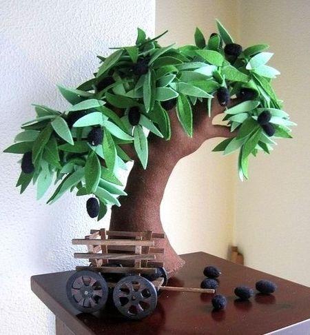 Copaci handmade din pasla 4