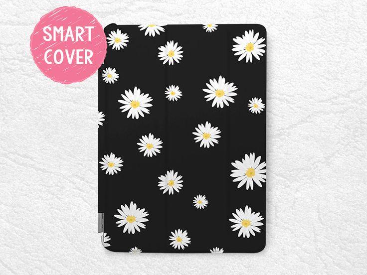 Daisy Flower Smart Cover for iPad Mini, iPad mini 2 retina, iPad Mini 3, Lovely Floral Smart cover with back case -P36