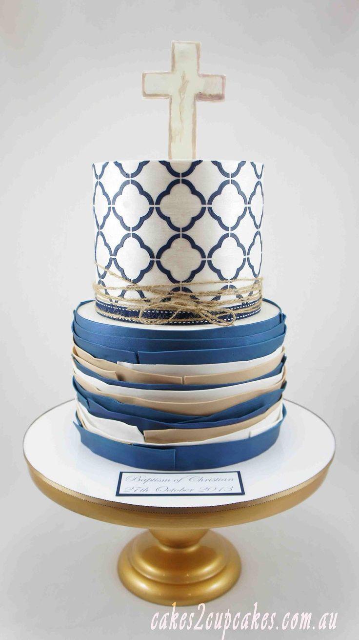 Christening/communion cake for boys