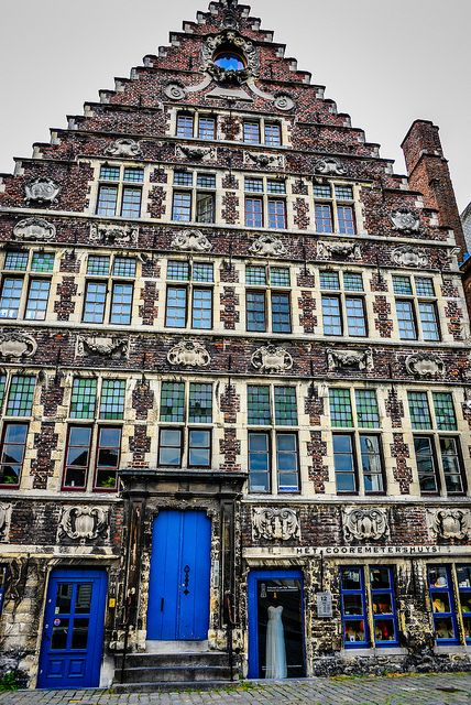 House on the Graslei in Ghent, Belgium