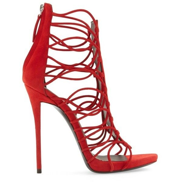 Giuseppe Zanotti 'Coline' Sandal ($1,050) ❤ liked on Polyvore featuring shoes, sandals, stiletto sandals, platform sandals, caged shoes, stilettos shoes and giuseppe zanotti shoes