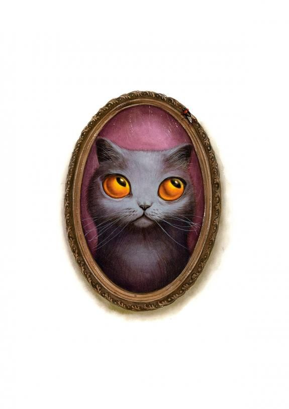 Benjamin Lacombe - Facéties de chats, Illustration originale
