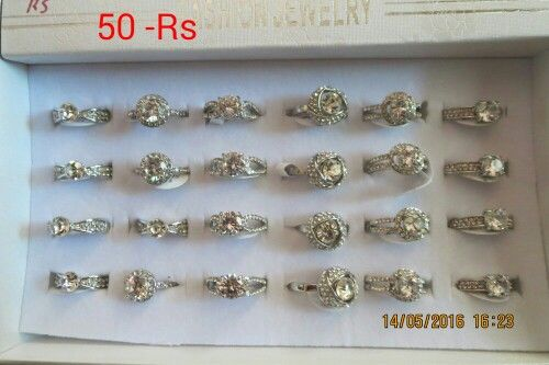 Finger ring size 16, 17, 18 avaliable   For order call or WhatsApp on 91 9924493791