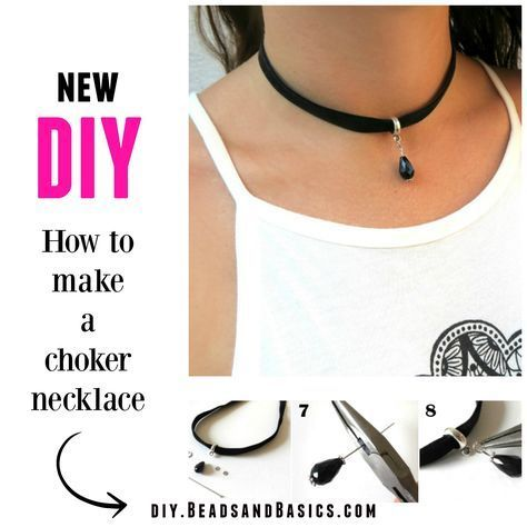 DIY - How to make a choker necklace http://diy.beadsandbasics.com/diy-how-to-make-a-choker-necklace/