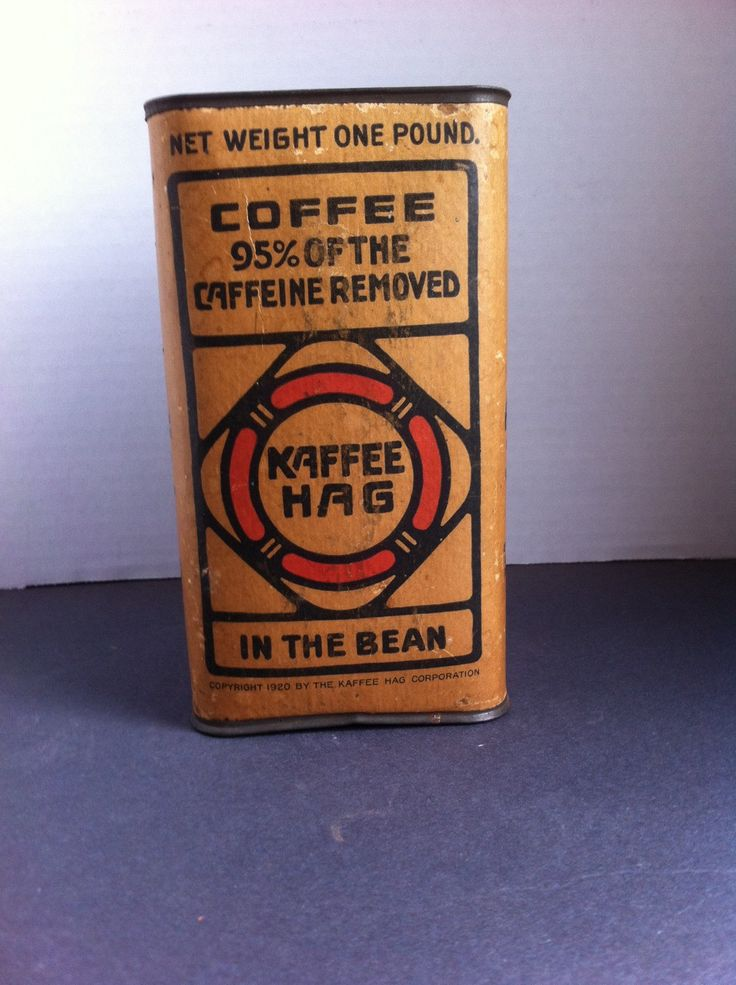 1920 One Pound Kaffee Hag, Coffee Tin by IveGotYourList on Etsy