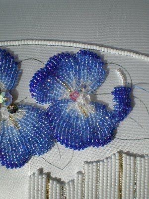 Japanese style bead embroidery; Photo courtesy of Carol-Anne: http://www.threadsacrosstheweb.blogspot.com/search/label/Japanese%20Bead%20Embroidery