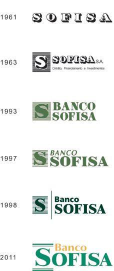 Logotipo Atual e Logotipos do Banco Sofisa