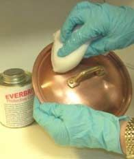 How to seal copper, brass or unpainted metal to prevent tarnish and corrosion, illustrated step-by-step directions.