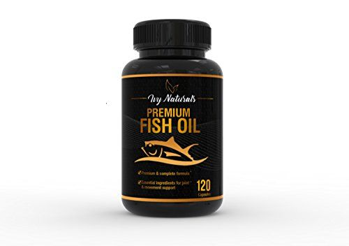 Fish Oil by Ivy Naturals || 120 Powerful Capsules || Packed with Premium Omega-3s, DHA, & EPA || Promotes Heart Health || Supports Cell Growth and Metabolic Functions || 100% Satisfaction Guarantee