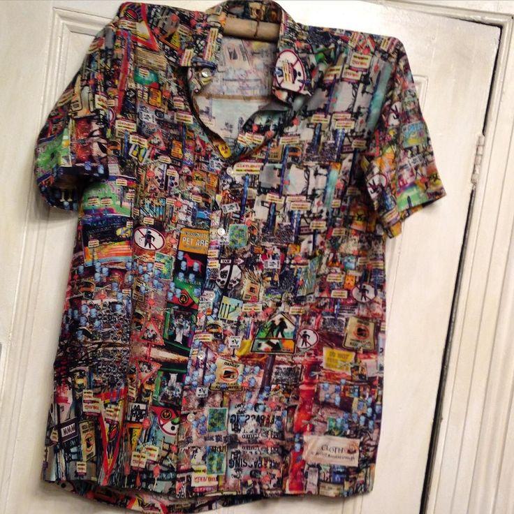 Men's short sleeve shirts #handspun #handloom #silk #cotton sewn by the stitching project / #artistannareynolds #worldtravel #world traveler #altermodern #digitalprint #computational turn #cloth #queenscliff #bellarinepeninsula by artistannareynolds http://ift.tt/1JO3Y6G