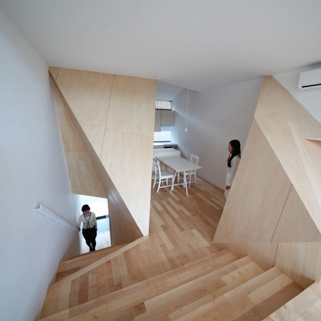 Town house KyotoAlphaville Architects, Interiors, Town House, Blenders 3D, Wooden Boxes, Architecture, Kyoto Town, Wooden Townhouse, Alphavil Architects