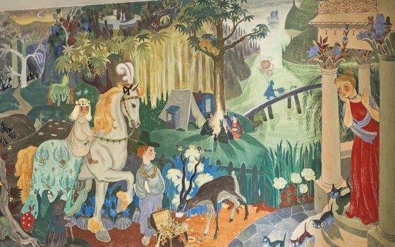 Mural by Tove Jansson (Nursery in Kotka, Finland)