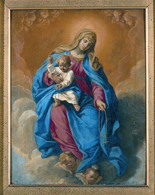 Risultato immagini per madonna del rosario pinacoteca tosio