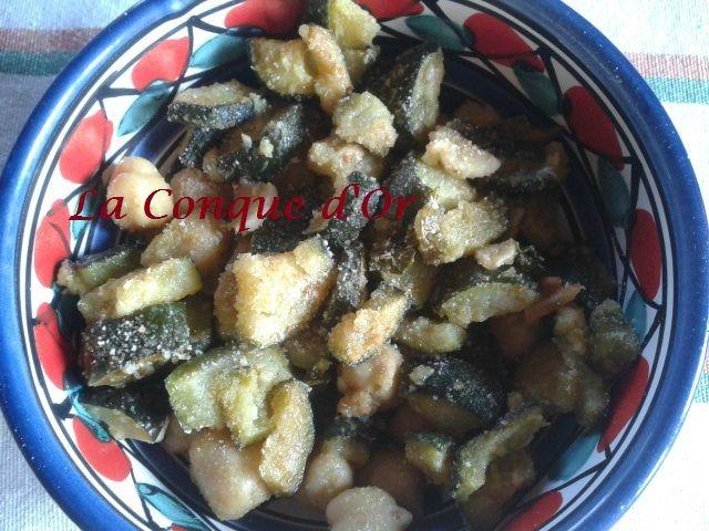 Salade de pois chiches croquants aux courgettes