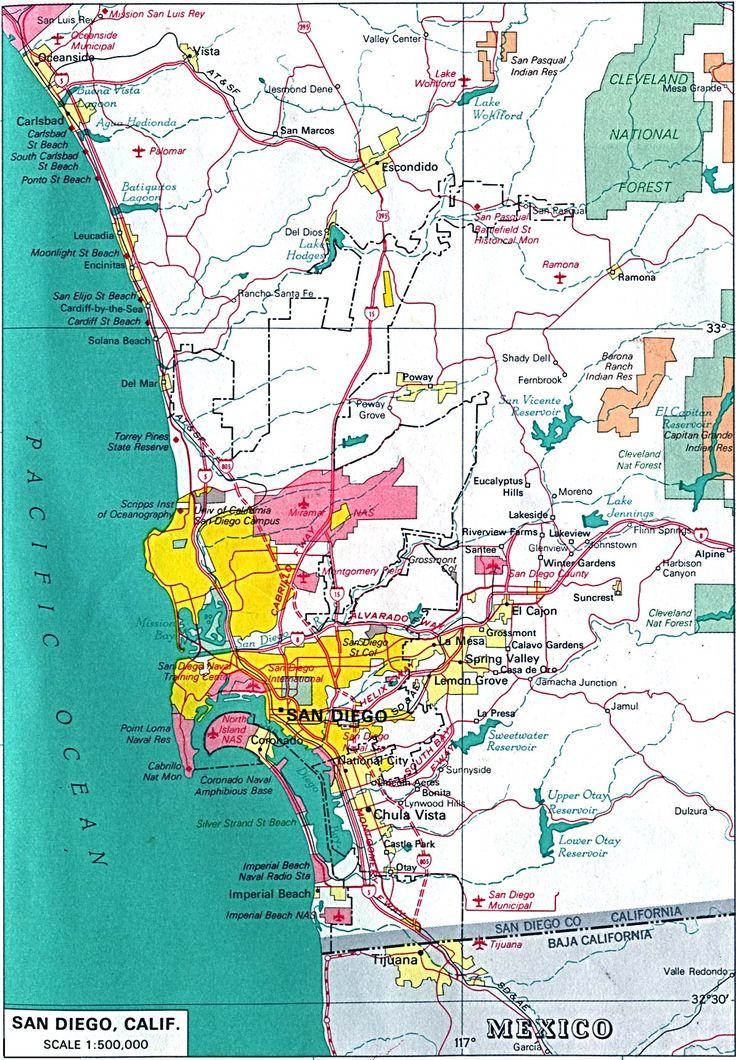 San Diego | CA San Diego Camping, San Diego Hostels, Hiking Maps Biking