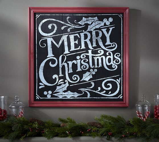 Merry Christmas Sign | Pottery Barn                                                                                                                                                                                 More