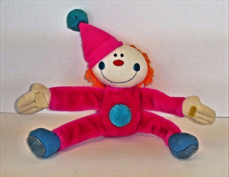 Dakin Vintage Clown Pink Orange 1985 Plush Stuffed #RDakinCo