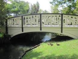 New Zealand's Bridges: Mona Vale Garden Bridges across the River