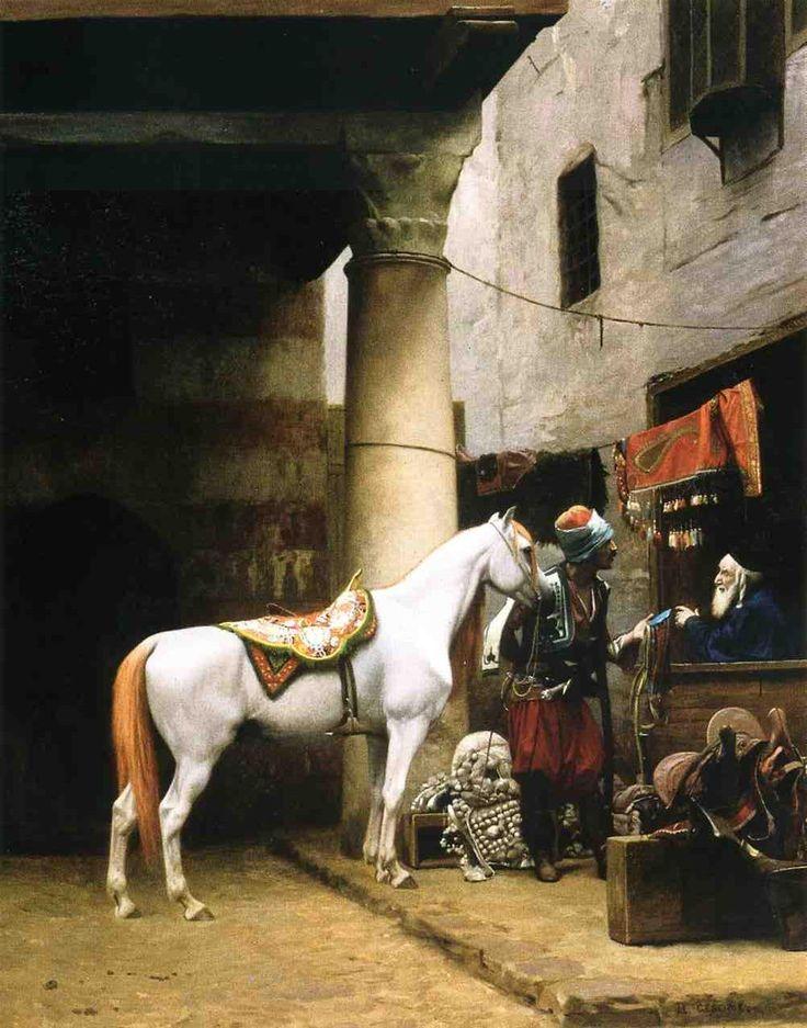 Jean-Léon Gérôme (French, 1824-1904). Arab Purchasing a Bridle, 1881. Haggin Museum - Stockton, CA