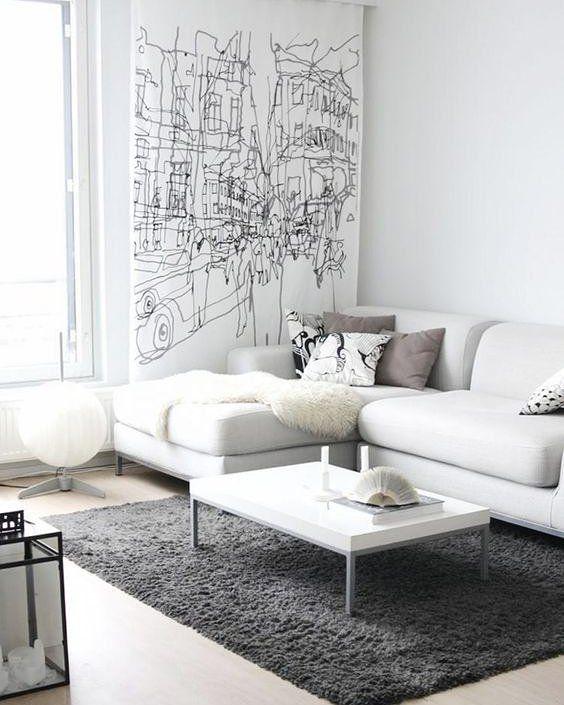 O branco garante certo toque de leveza a qualquer ambiente além de ser atemporal e superelegante. Para seguir um estilo mais minimalista aposte nas cores neutras como o cinza e o preto. #decoracaodeinteriores #decore #inspiration #inspiração #mobly #moblybr #homesweethome #homedecor #comtemporary #livingroom #home #alegria #home #decor #decoração #decoration #lardocelar #casa #lar #meuape #allwhite