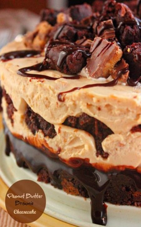 Peanut Butter Brownie Cheesecake