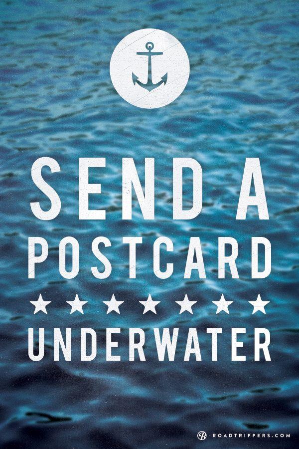 At the Hideaway Island Resort in Vanuatu you can send a postcard underwater!